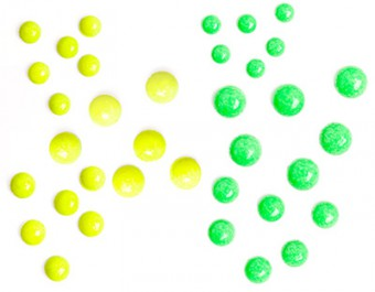 B9 Fluo Duo Dots Yellow & Green