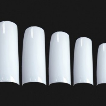 A7 Nail Tips French White 100